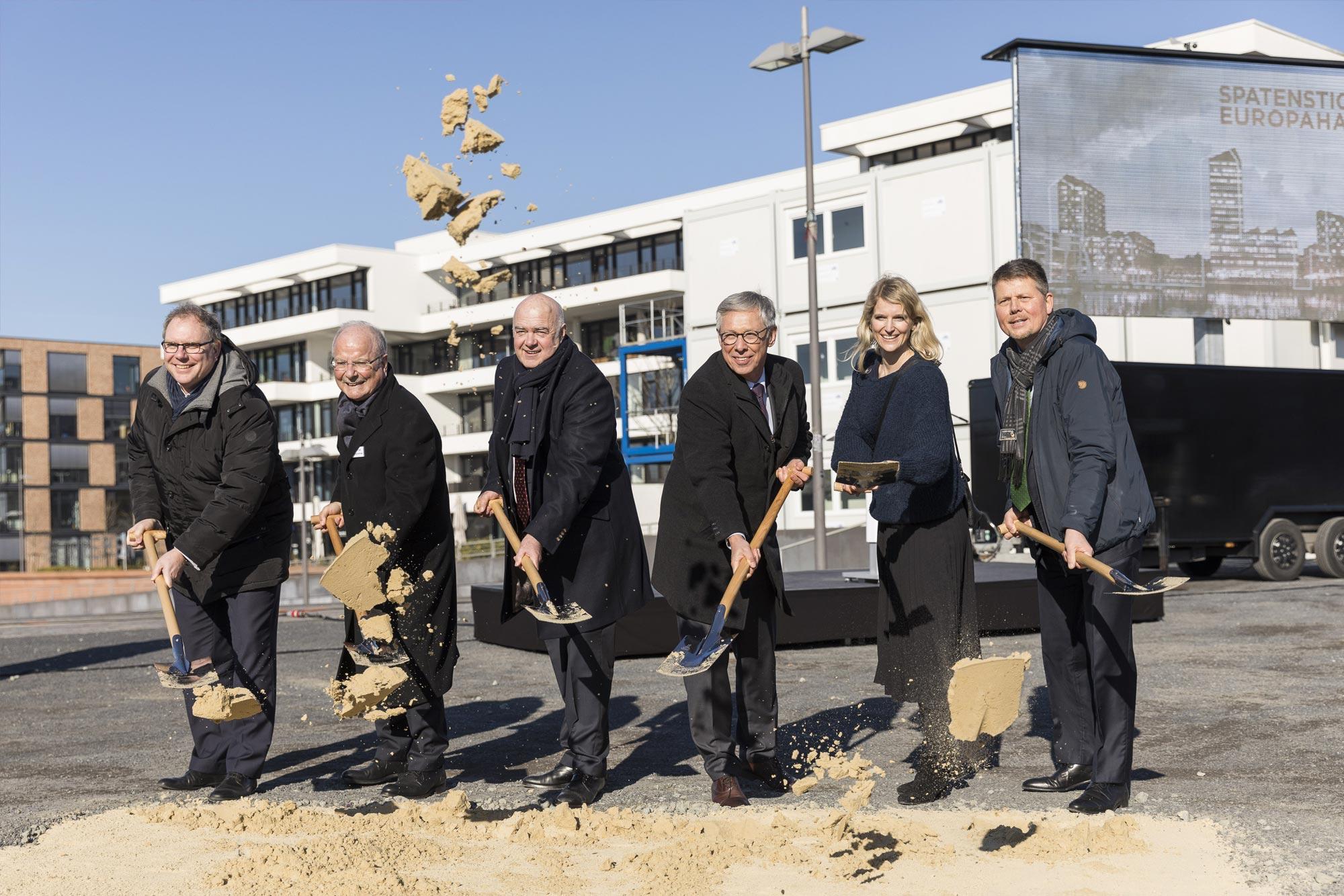 Europahafenkopf Bremen Presse Spartenstich